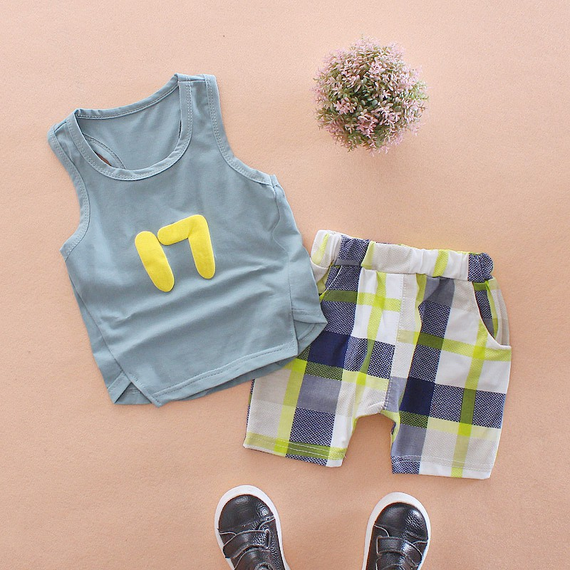 Bộ áo thun sát nách + quần ngắn họa tiết sọc ca rô đáng yêu dành cho bé - 21827379 , 1238208842 , 322_1238208842 , 79458 , Bo-ao-thun-sat-nach-quan-ngan-hoa-tiet-soc-ca-ro-dang-yeu-danh-cho-be-322_1238208842 , shopee.vn , Bộ áo thun sát nách + quần ngắn họa tiết sọc ca rô đáng yêu dành cho bé
