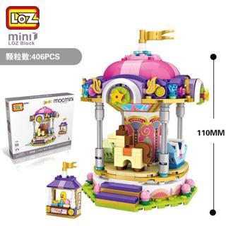 Combo 4 bộ lego LOZ mô hình công viên