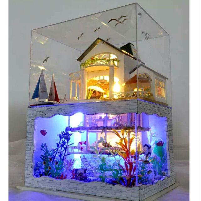 Mô hình nhà gỗ búp bê dollhouse DIY – TC4 Hawaii