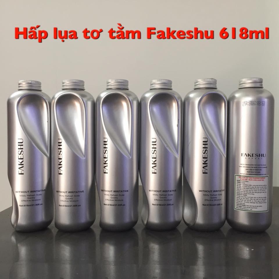 Hấp phủ lụa tơ tằm phục hồi tóc Fakeshu 618ml