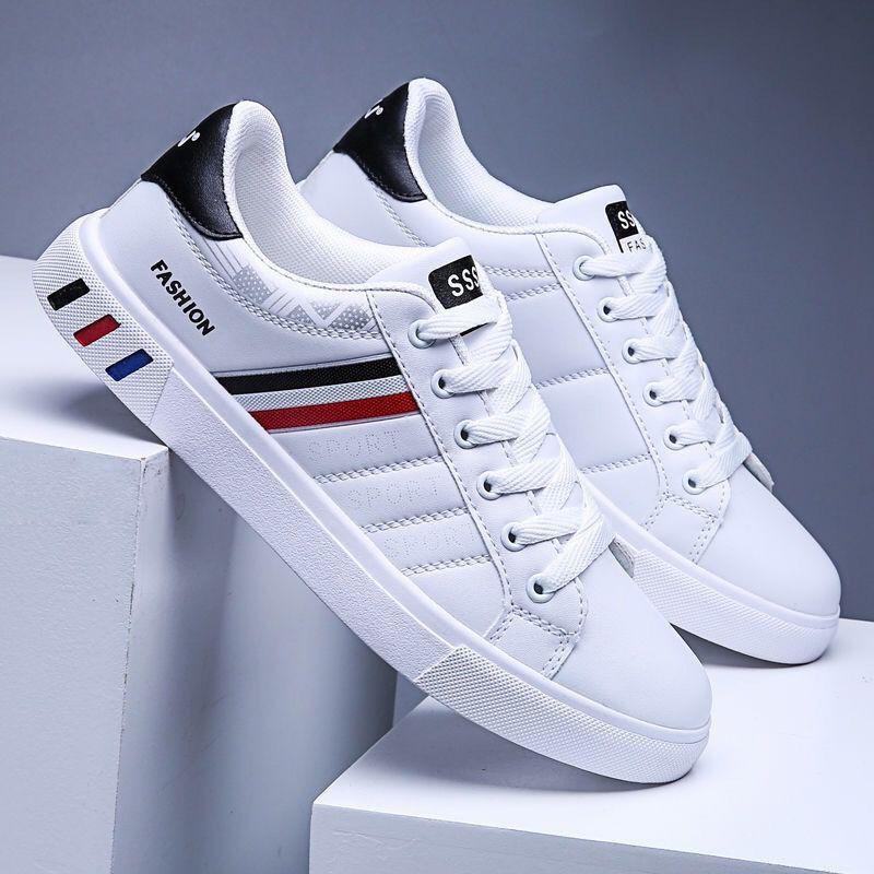 Giày Sneaker Thể Thao Nam Da Cao Cấp Màu Trắng G07 Đẹp Hot