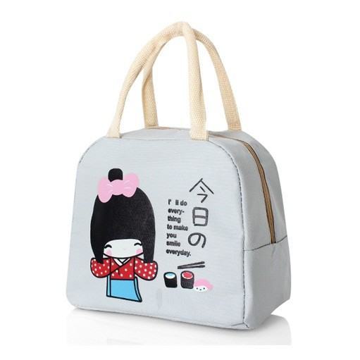 Túi giữ nhiệt cô gái Nhật Bản( Khách chọn màu)