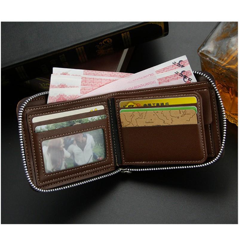 Bóp ví nam có khóa kéo thời trang tiện lợi kiểu dáng hàn quốc ví nam cầm tay cao cấp Mã: MB21