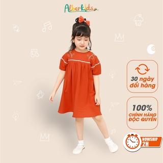 Váy cho bé gái ALBER KIDS chất liệu CARA Mềm Mát Mặc Hè 𝐃𝐚𝐢𝐬𝐲 𝐃𝐫𝐞𝐬𝐬 Hình Thêu Hoa [V09]