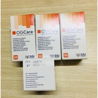 💥[Hàng CH, Giá đại lý] Hộp 50 Que thử đường huyết OGCARE 50 QUE, hàng chuẩn hãng, date dài