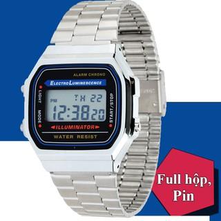 Đồng hồ nam NỮ A168 Full box điện tử chống nước siêu cá tính và trẻ trung