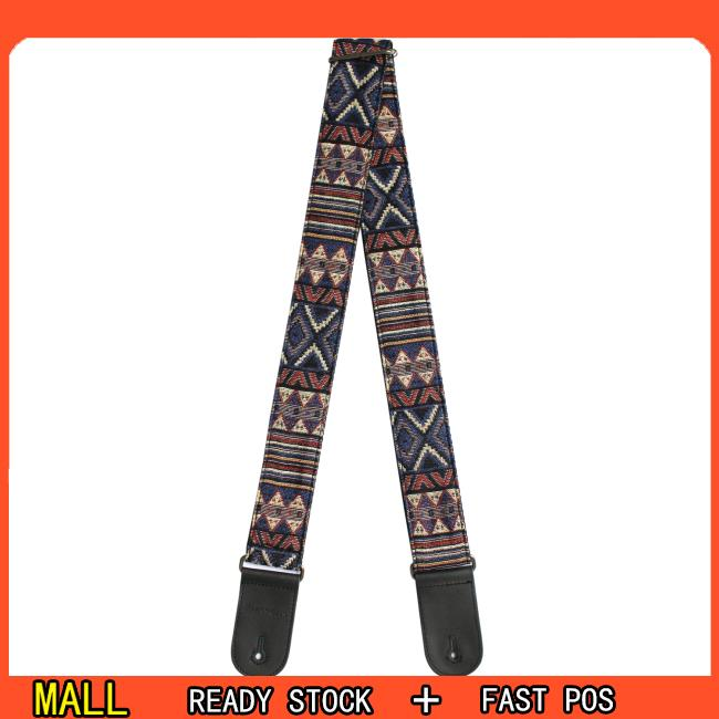 Flanger Vintage National Style Acoustic Electric Guitar Strap Jacquard Embroidery Strap