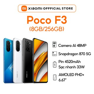 Điện thoại Xiaomi POCO F3 (8GB+256GB) Hàng Chính Hãng Bảo Hành 18 Tháng thumbnail