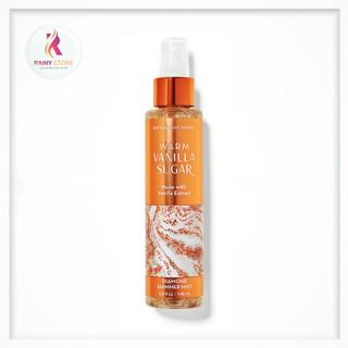Xịt thơm toàn thân ánh nhũ Bath & Body Works Warm Vanilla Sugar 146ml thumbnail