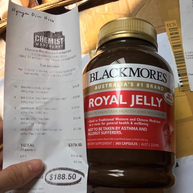 Sữa Ong Chúa Blackmore Royal Jell 365 viên - 2924563 , 1091464922 , 322_1091464922 , 870000 , Sua-Ong-Chua-Blackmore-Royal-Jell-365-vien-322_1091464922 , shopee.vn , Sữa Ong Chúa Blackmore Royal Jell 365 viên