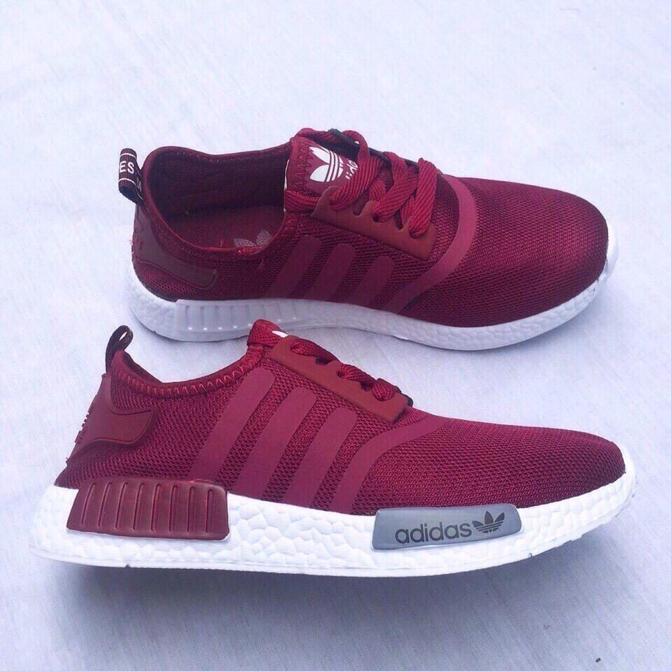 [FREE SHIP] Giày Adidas NMD R1 màu Đỏ đô đỏ mận