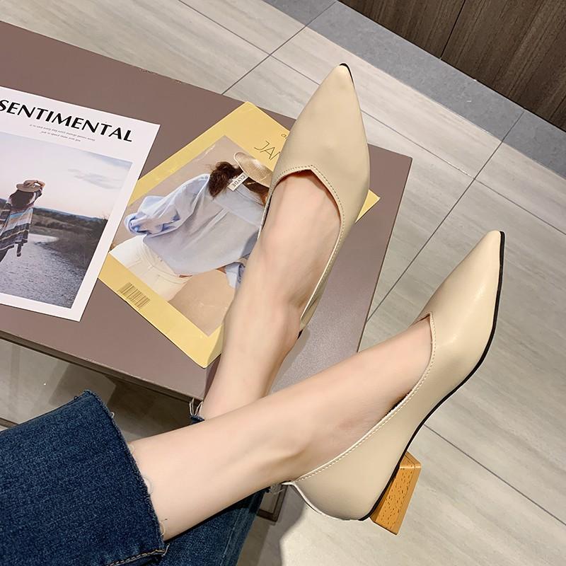 Giày Búp Bê Mũi Nhọn Thời Trang 2020 Cho Nữ