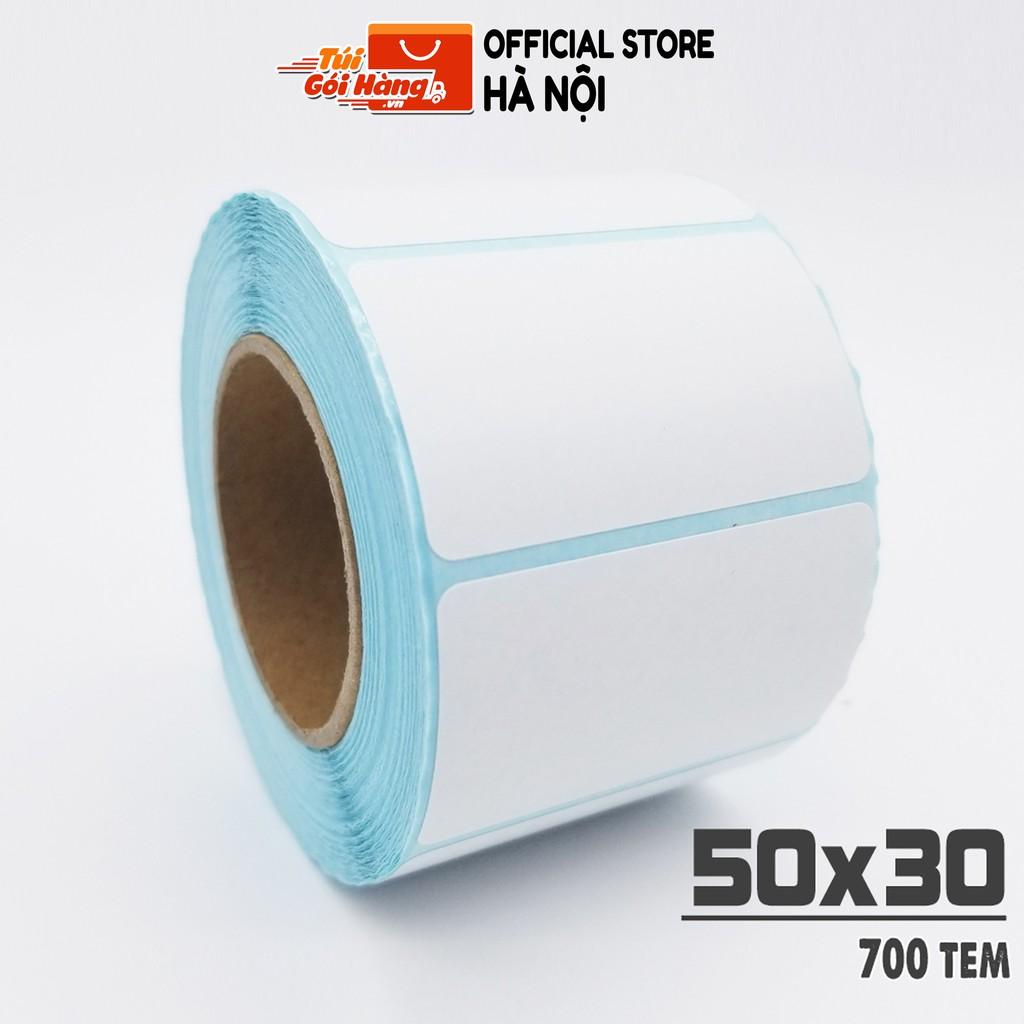 Giấy In Mã Vạch TUIGOIHANG Khổ 50x30mm Dạng Cuộn 700 Tem Dành Cho In Barcode, In Tem Vận Chuyển