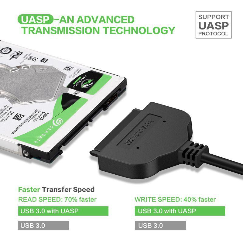 Dây cáp chuyển đổi cổng USB 3.0 sang SATA 22Pin cho ổ cứng HDD / SSD 2.5 inch