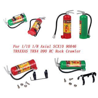 Simulation Miniature Fire Extinguisher Decorative Extinguisher for 1/10 1/8 Axial SCX10 90046 TRAXXAS TRX4 D90 RC Rock Crawler