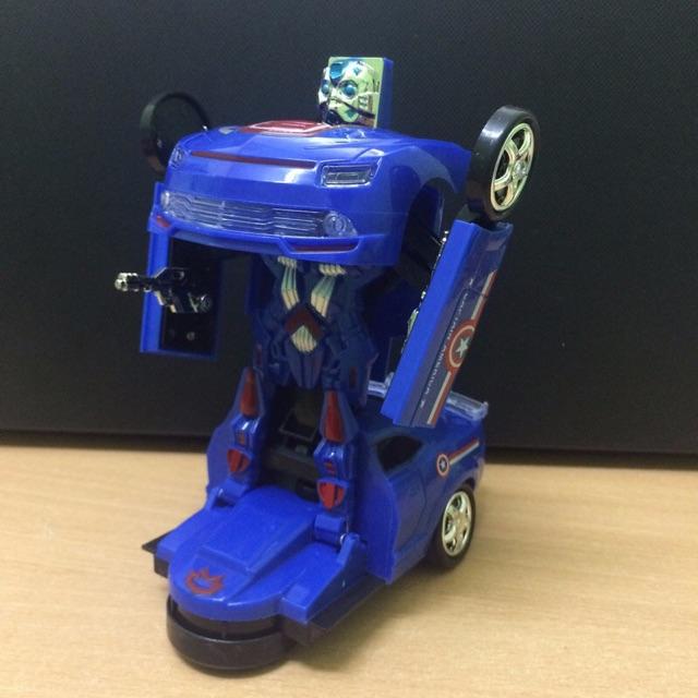 Siêu xe ôtô biến hình robot có nhạc, đèn, cảm biến đổi hướng khi gặp trở ngại