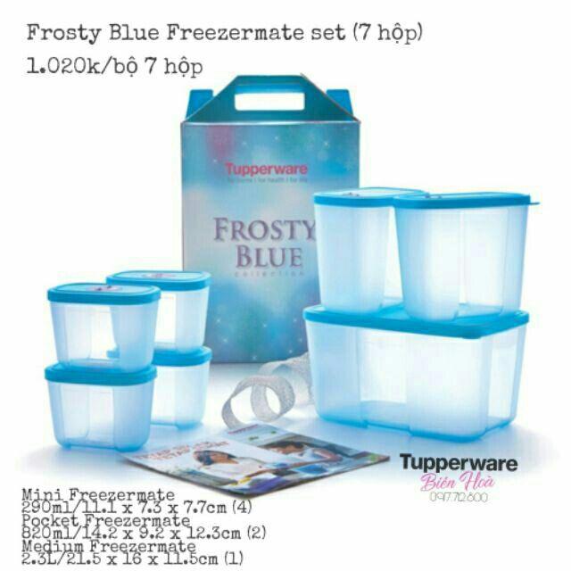 [Tupperware] Bộ Hộp Bảo Quản Thực Phẩm ngăn đông CÓ ĐỒNG HỒ Freezermate set 4 & set 5 & set 6 & set