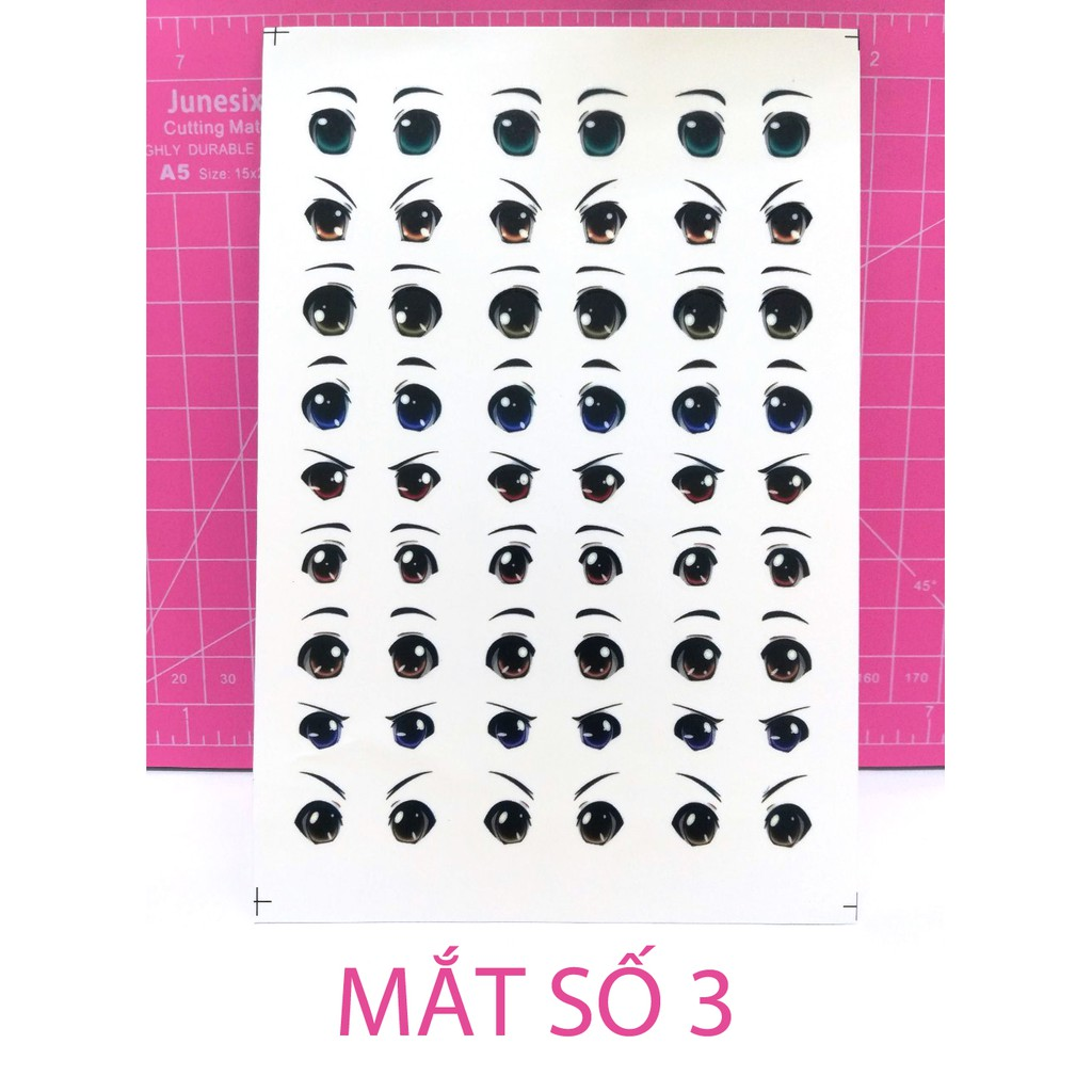 Mắt Búp Bê, Mắt Chibi Dán Sticker BJD Doll Figure Số 3 Đất Sét Nhật Polymer CLay