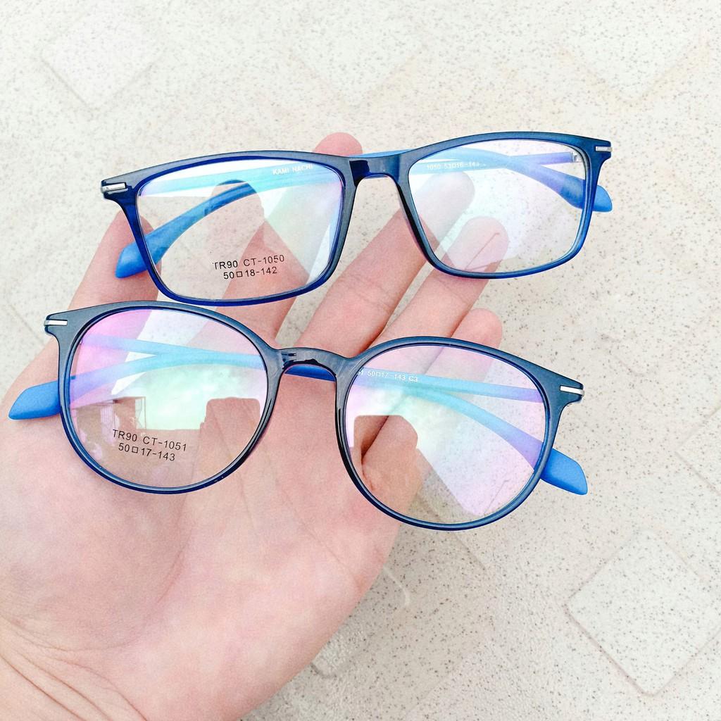 Gọng kính dẻo Vuông xịn + Tròng cận tốt (Thái)