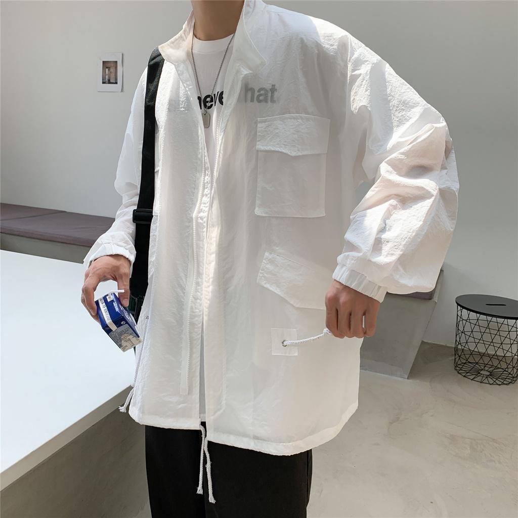 Áo khoác mỏng thiết kế đơn giản phong cách Hàn Quốc