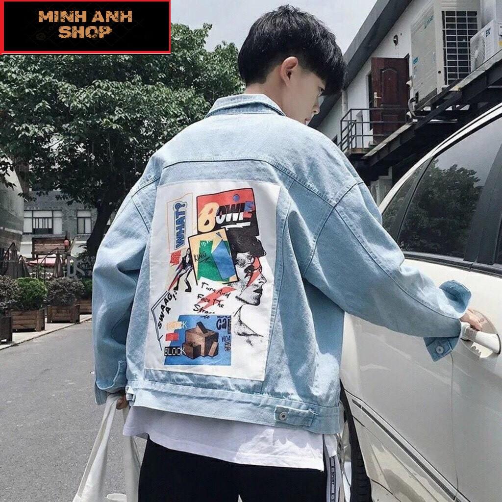 Áo Khoác Jean Nam Nữ UNISEX XANH In Hình Sau Lưng  Siêu Đẹp Cá Tính Phong Cách - Áo Khoác Bò - Áo khoác jeans