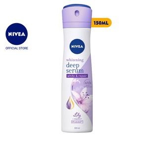 Xịt ngăn mùi Nivea serum trắng mịn hương hoa Lily (150ml) - 85312