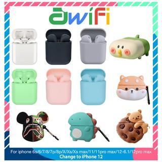 [Mã SKAMPUSHA8 giảm 8% đơn 300K] Tai Nghe Bluetooth Không Dây inpods i12 TWS | Vỏ ốp lưng Case Airpods 1/2 – Awifi Case