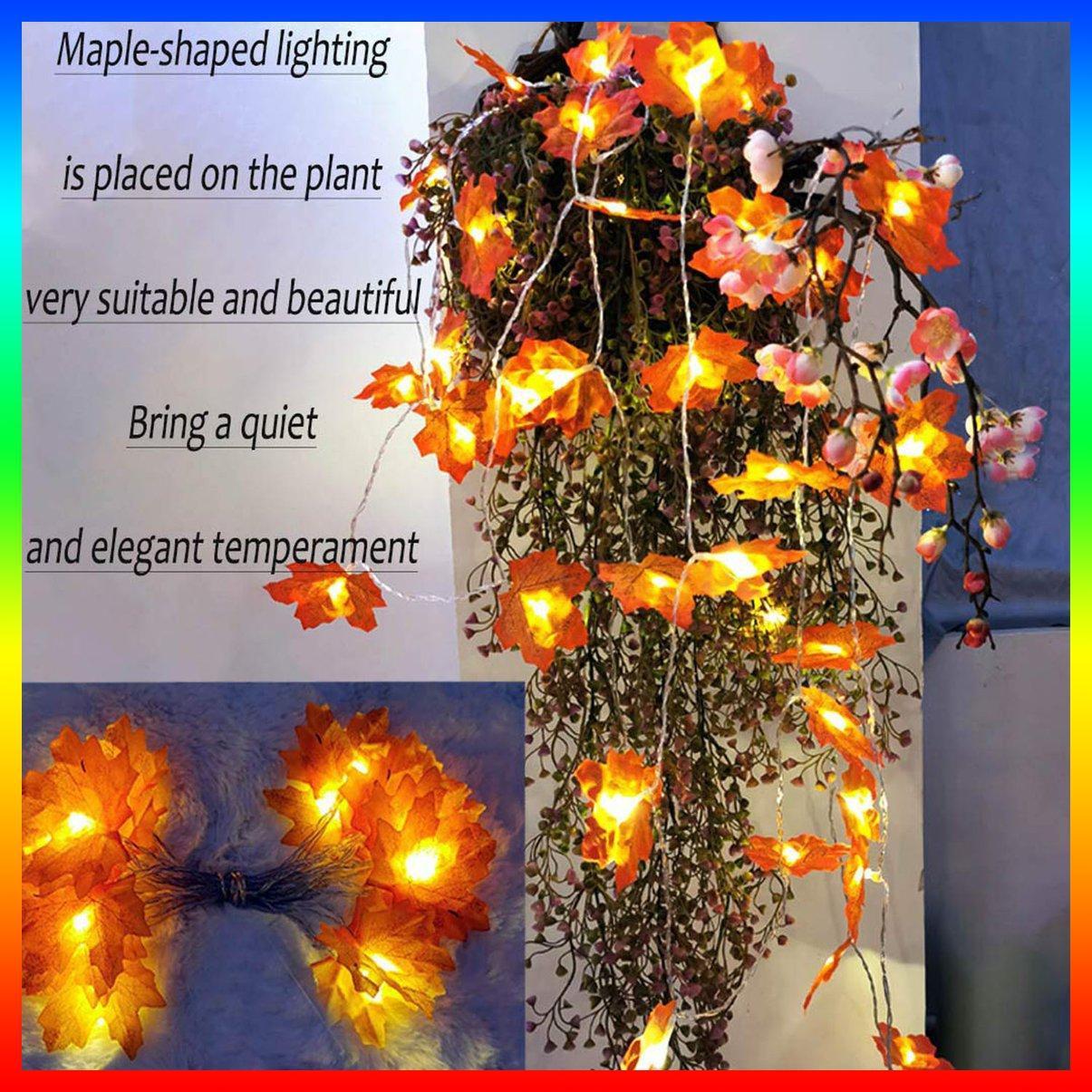 1 Dây 10 Đèn Led Dài 1.5m Hình Lá Phong Trang Trí Giáng Sinh