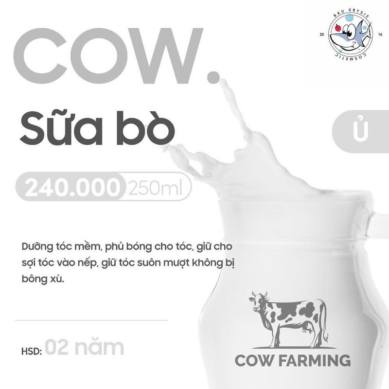 COW Ultra-nourishing Hair Mask - Ủ Tóc Sữa Bò