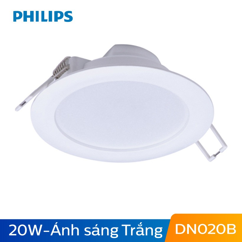 Đèn Philips LED Downlight âm trần DN020B 20W 6500K D175 - Ánh sáng trắng