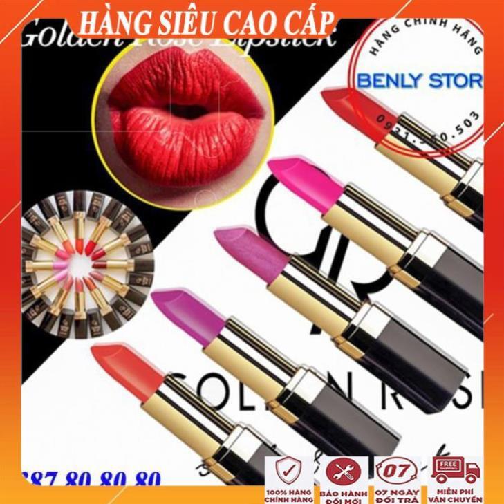 Son môi đẹp lipstick golden rose/Son lì cao cấp không lem, không trôi,siêu mềm mượt quyến rũ
