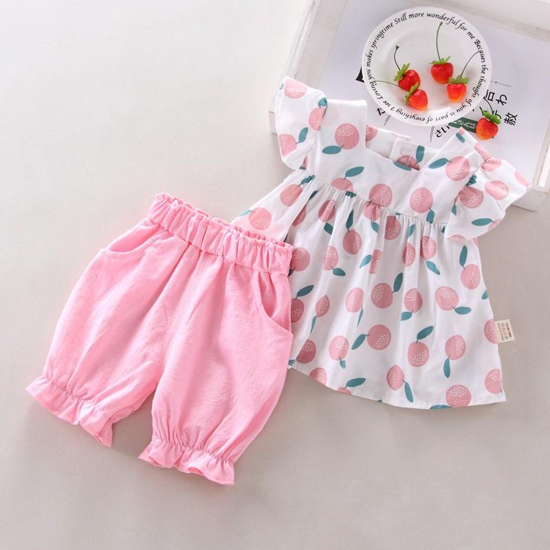 Set đồ hai món gồm áo cánh tiên họa tiết trái cây và quần short dễ thương cho bé gái phong cách mùa hè 2019 - 22146391 , 2889355700 , 322_2889355700 , 155000 , Set-do-hai-mon-gom-ao-canh-tien-hoa-tiet-trai-cay-va-quan-short-de-thuong-cho-be-gai-phong-cach-mua-he-2019-322_2889355700 , shopee.vn , Set đồ hai món gồm áo cánh tiên họa tiết trái cây và quần short