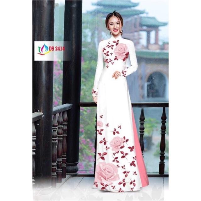 Vải áo dài hoa hồng - 3013550 , 1277486683 , 322_1277486683 , 220000 , Vai-ao-dai-hoa-hong-322_1277486683 , shopee.vn , Vải áo dài hoa hồng