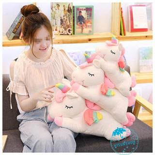 ☀Sun❤Kids Stuffed Animal Toy, Cute Rainbow Horse Plush Toy Pillow Home Decor Gift for Girls