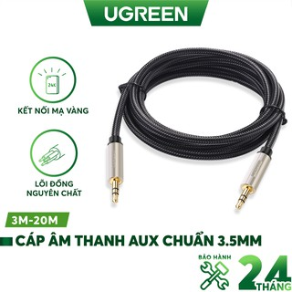 [Mã 2404EL10K giảm 10K đơn 20K] Cáp âm thanh Aux chuẩn 3.5mm cao cấp UGREEN AV125 Hàng chính hãng
