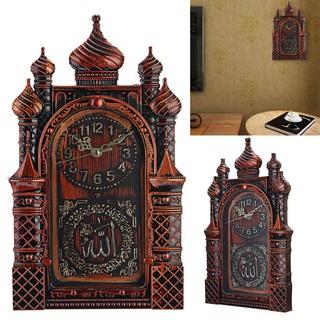 Đồng hồ treo tường trang trí tạo hình nghệ thuật phong cách đạo Hồi độc đáo