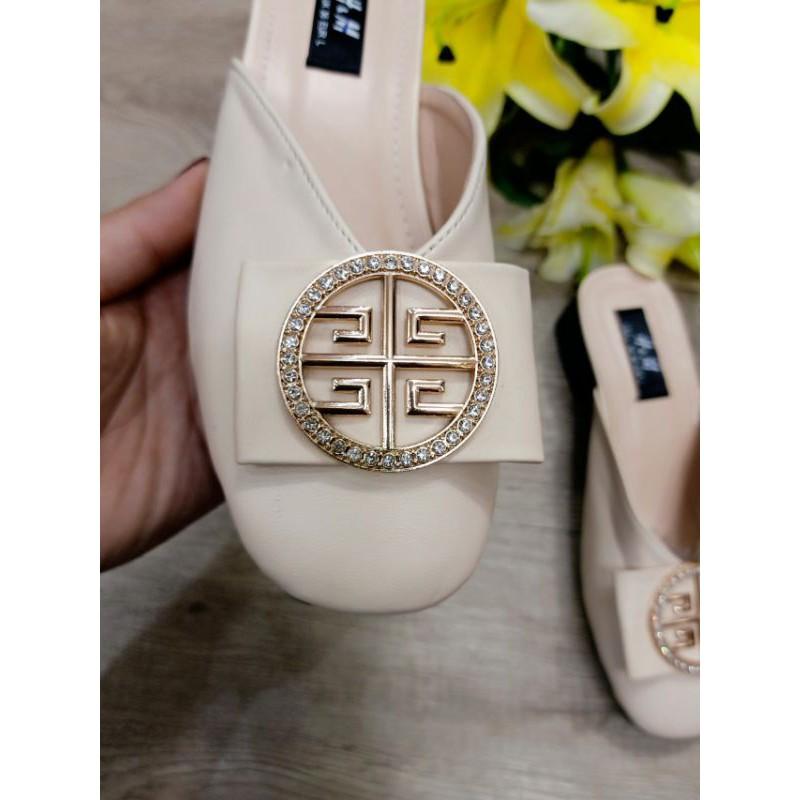 [hcm] giày sục mũi vuông sang trọng, da mềm, êm, bền