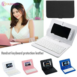 Bao da nắp gập kiêm bàn phím cho điện thoại thông minh |shopee. Vn/botmau121