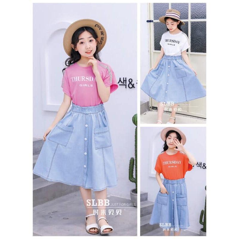 Váy size đại bé gái màu hồng