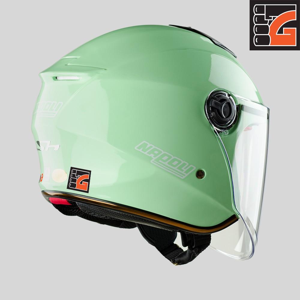 ✅[GLOVESZONE] Mũ bảo hiểm 3/4 kính NAPOLI X3 xanh ngọc bóng - Hàng Chính hãng