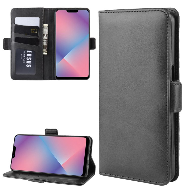 SPEED Cowhide Texture Leather Wallet Phone Cover for Oppo A5 / A3s / AX5