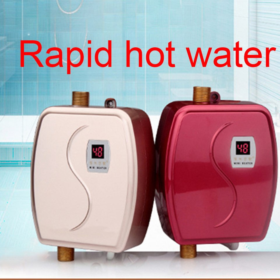 Tankless Instant Electric Hot Water Heater Shower for Home Bathroom