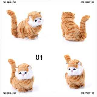 MINONE Simulation stuffed plush cats toys soft sounding Electric cat doll toys for kid
