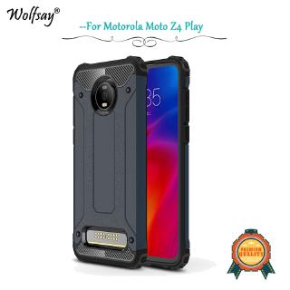 Fashion Armor Shockproof Cover Silicone Hard PC Back Protective Phone Case For Motorola Moto Z4