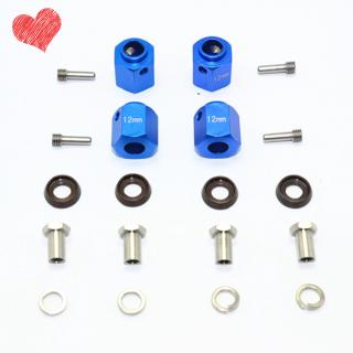 Aluminum Alloy Hexagon Adapter 12MM Thick with Stainless Steel Screw Needle Set for TRAXXAS TRX-4