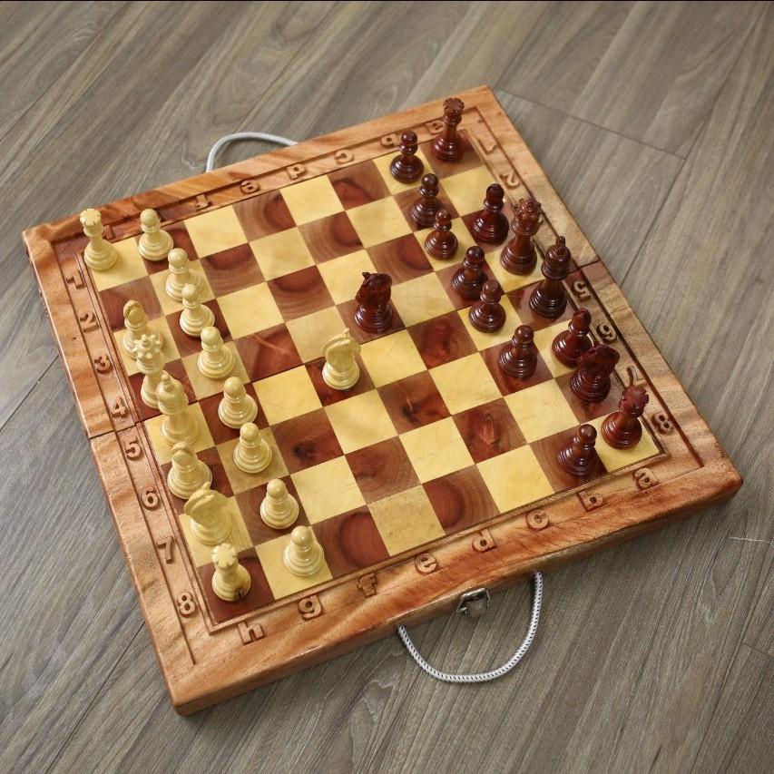 Bộ cờ vua gỗ tự nhiên cao cấp tiêu chuẩn thi đấu quốc tế-DCC01