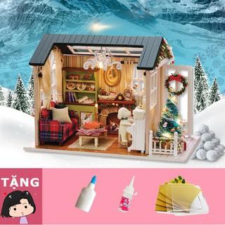 Mô hình nhà gỗ tự ráp Hát mừng Giáng sinh