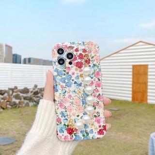 Fashion Flower Bracelet Silicon Soft Case For iPhone 11 Pro Max 8 Plus 7 XR XS X Silicone Lens Protection 12 Pro Max SE 2020 Cover
