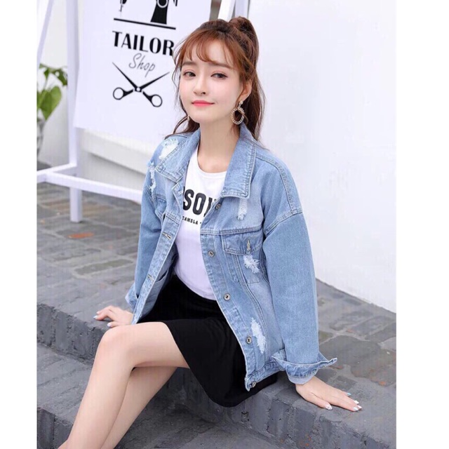 Áo Khoát Jeans Nữ Cao Cấp - 3381975 , 1140088013 , 322_1140088013 , 290000 , Ao-Khoat-Jeans-Nu-Cao-Cap-322_1140088013 , shopee.vn , Áo Khoát Jeans Nữ Cao Cấp