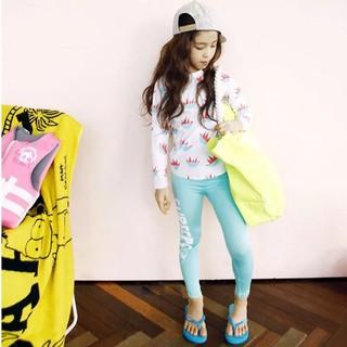 Bộ đồ bơi cho bé gái gồm áo tay dài + quần có size ngoại cỡ 4XL